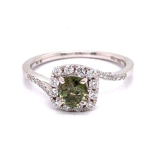 Platinum Alexandrite Diamond Ring