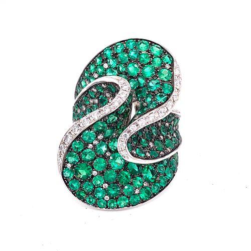 SALAVETTI Emerald Diamond 18k RingÊ