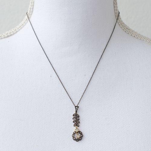 Georgian Silver Diamond PendantÊ