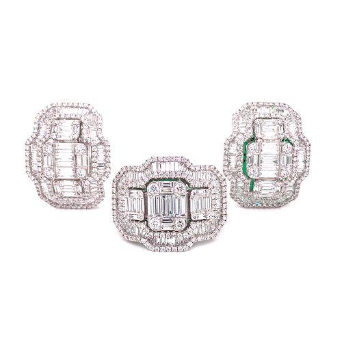 18K Diamond Earring & Ring SetÊ