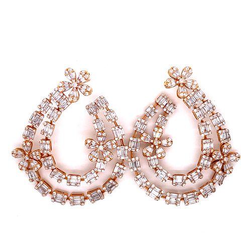 18k Diamond EarringÊ