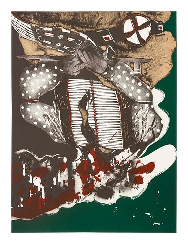 Fritz Scholder (Luiseno, 1937-2005) Lot is located and will ship from Denver, Colorado.Portrait of a Massacred Indianedition 73/100, 1973