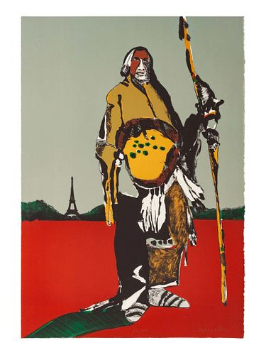 Fritz Scholder (Luiseno, 1937-2005) Lot is located and will ship from Denver, Colorado.Indian in Parisedition 67/100, 1976