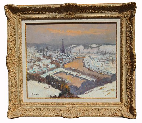 Albert Malet  (1912 - 1986) View of Rouen
