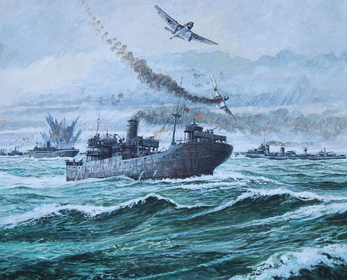 "Brian Sanders (B. 1937) ""Convoy PQ-17 Destroyed"""