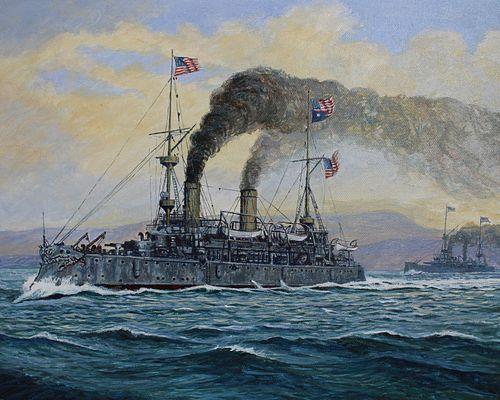 "Brian Sanders (B. 1937) ""USS Olympia"""