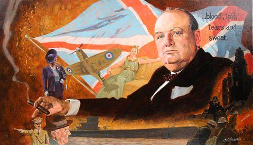 """Shannon Stirnweis (B. 1931) """"Churchill"""""""