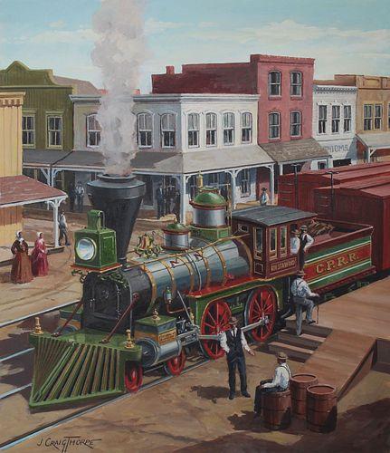 "J. Craig Thorpe (B. 1948) ""California Locomotive"""