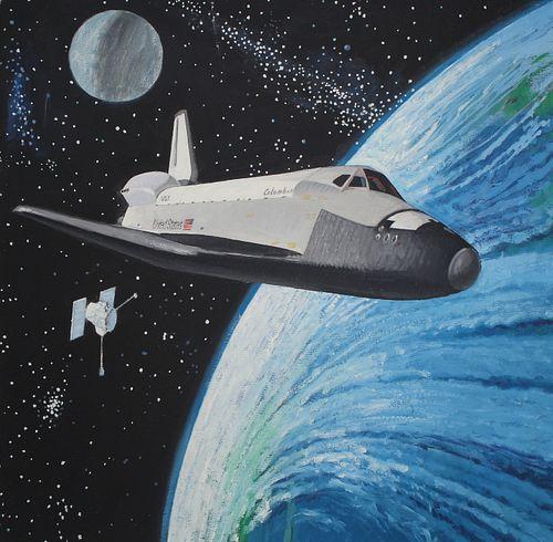 Jim Butcher (B. 1944) Space Shuttle Landing