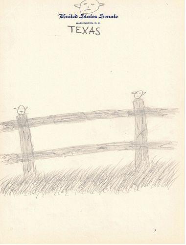 President Lyndon B. Johnson, Texas Doodle