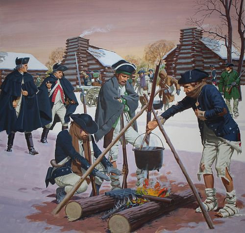 Ed Vebell (1921 - 2018) Washington At Valley Forge