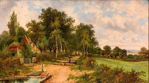 Octavius Thomas Clark, Oil, Summer Landscape