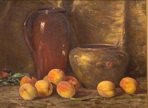 Adam Lehr Oil, Still Life with Peaches