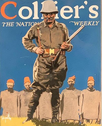 Roy Miller Gouache, Collier's the National Weekly, Theodore Roosevelt in Africa