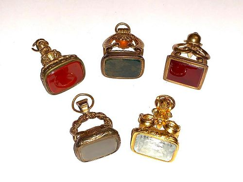 Five Antique Watch Fobs