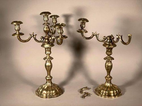 A Pair of Austrian Silver Candelabra
