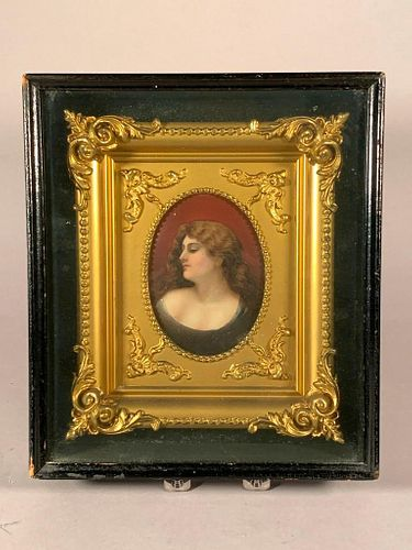 Porcelain Plaque in Shadow Box Frame