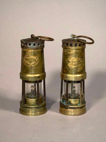 Two Brass Miner Lanturns, English, 19th Century