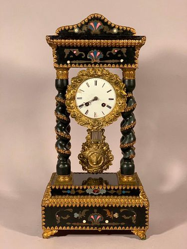 Empire Mantle Clock, 19thc.