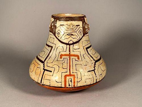 Peruvian Shipibo Pottery Effigy Vessel
