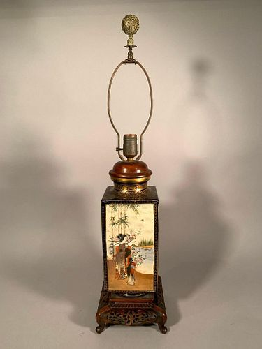 Japanese Satsuma Vase Fitted as Table Lamp