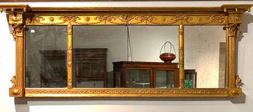 American Federal Period Gilt Overmantle Mirror