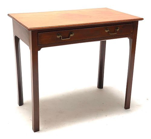 Chippendale Style Mahogany One Drawer Stand
