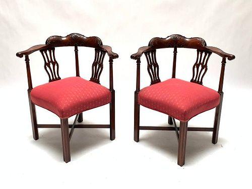 Pair of English Mahogany Chairs, 19th Century