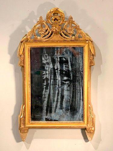 Louis XVI Style Gilt Wood Mirror