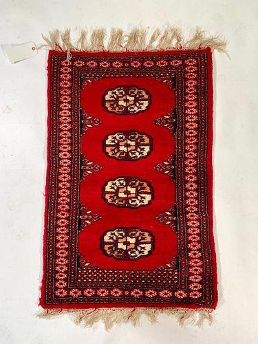 Small Red Turkomen Carpet