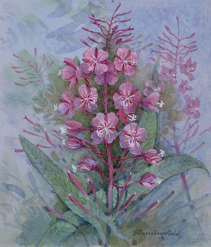 "Gordon Beningfield (1936 - 1998) ""Fireweed"""
