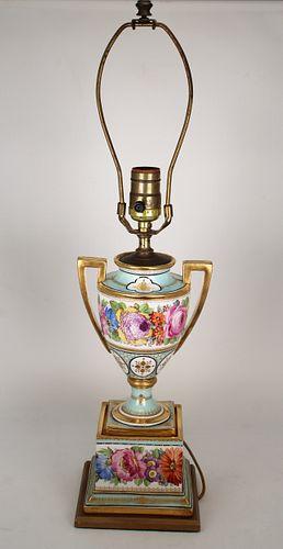 Antique French Porcelain Lamp