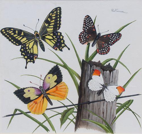 "Paul Connor (20th C) ""Butterflies"""