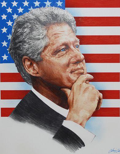 """Chris Calle (B. 1961) """"Bill Clinton"""""""