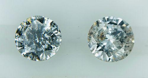 "Trendy Pair of ""Salt & Pepper"" Diamonds, 1.48 carat tw"