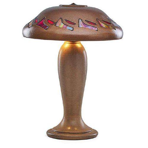 Fulper Pottery - Vasekraft Leaded Glass Lamp c1910