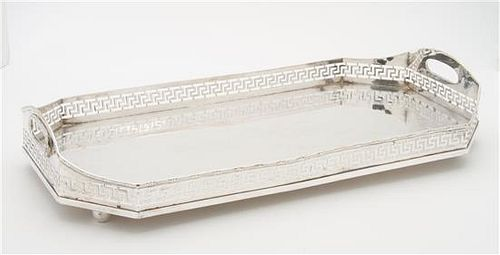 A Silver-plate Serving Tray Width 17 1/4 inches