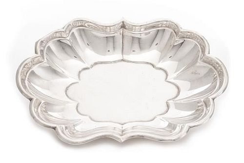 * An American Silver Bowl, Reed & Barton, Taunton, MA, Windsor pattern, of shaped oval form with lobed sides