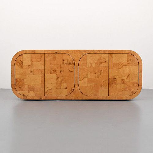 "Paul Evans ""Curved 500"" Burl Wood Cabinet"