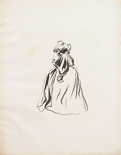 * Jean-Louis Forain, (French, 1852-1931), Untitled (Woman)