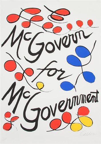 * Alexander Calder, (American, 1889-1976), McGovern for McGovernment, 1972