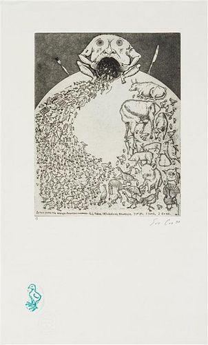 Sue Coe, (British, b. 1951), The Ark, 1990