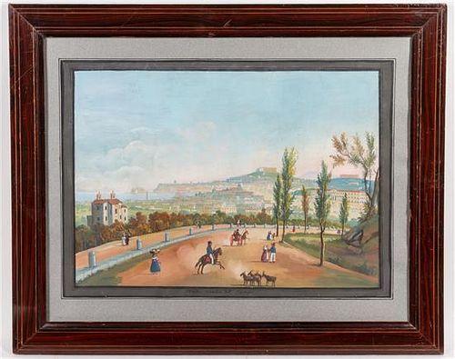 Artist Unknown, (19th century), Foro e Tempio di Giove a Pompei and Strada Nuava del Campo (two works)