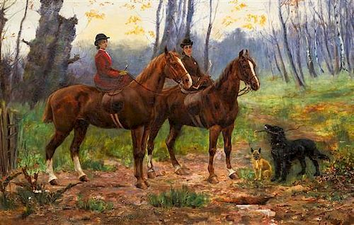 After Heywood Hardy, (British, 1842-1933), A Ride in the Forest