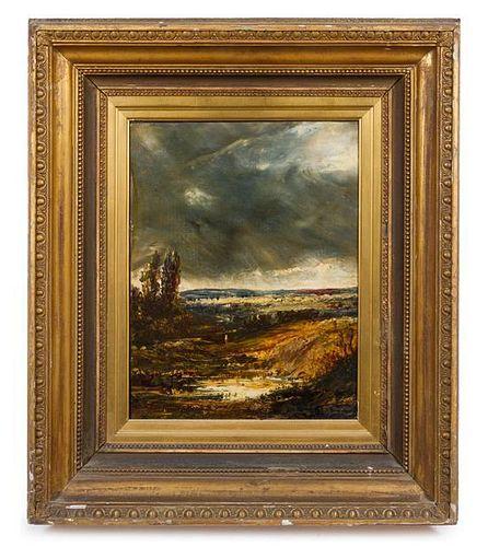 Artist Unknown, (British, 19th century), Landscape with Cyprus Trees