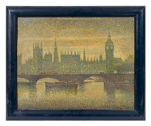 In the Manner of Georges Lemmen(Belgian, 1865-1916)Londonoil on board16 x 20 inches.Estimate $ 200-400