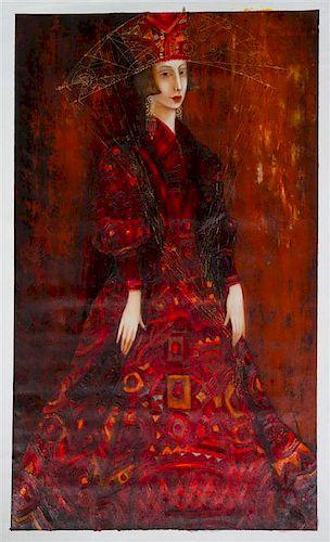 Ludmila Curilova, (Moldovian, 20th/21st century), Lady in Red