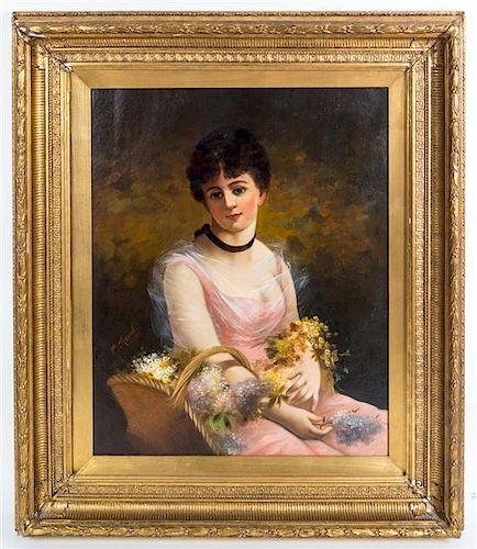 C. Romell, (19th century), Portrait of a Girl