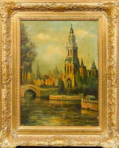 Artist Unknown, (19th/20th century), City Scene