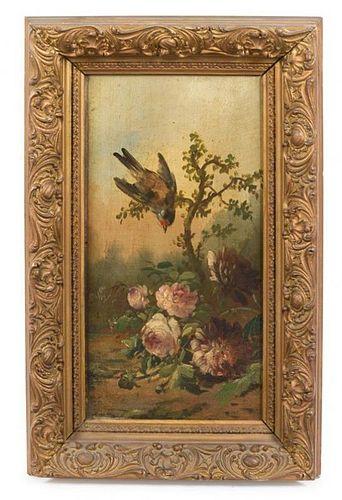 * Artist Unknown, (19th century), Bird on Flowering Branch